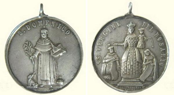 Recopilación medallas de Santo Domingo de Guzmán. Notas iconográficas. Pescud38