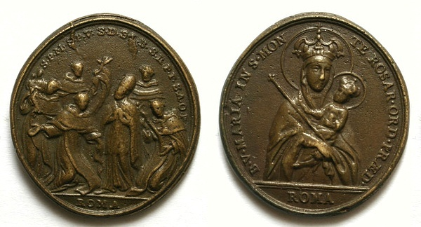 Recopilación medallas de Santo Domingo de Guzmán. Notas iconográficas. Pescud39