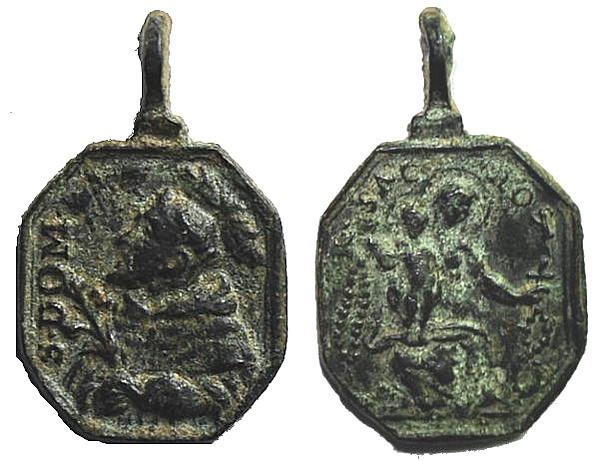 Recopilación medallas de Santo Domingo de Guzmán. Notas iconográficas. Pescud41
