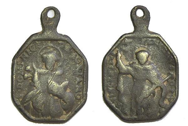 Recopilación medallas de Santo Domingo de Guzmán. Notas iconográficas. Pescud42