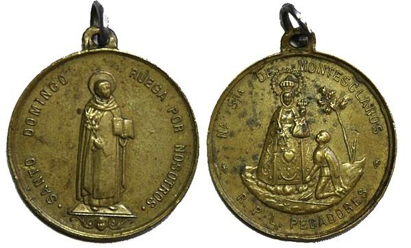 Recopilación medallas de Santo Domingo de Guzmán. Notas iconográficas. Pescud44