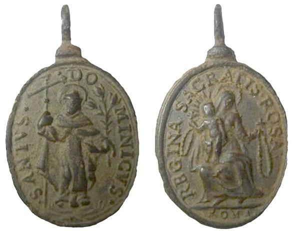 Recopilación medallas de Santo Domingo de Guzmán. Notas iconográficas. Pescud45