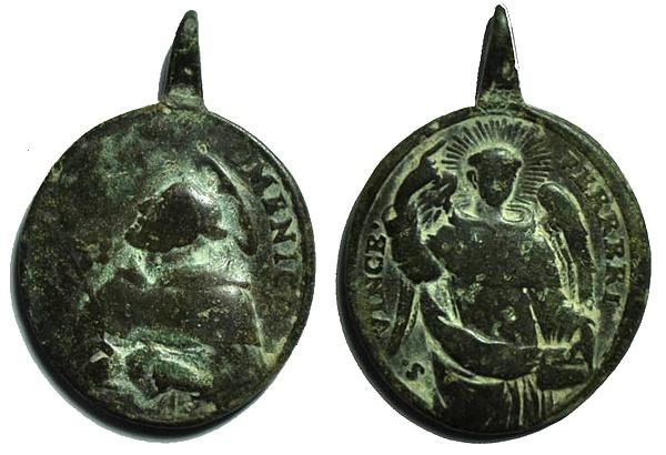 Recopilación medallas de Santo Domingo de Guzmán. Notas iconográficas. Pescud46