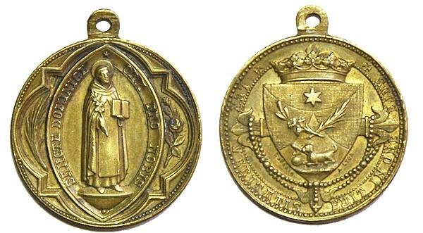 Recopilación medallas de Santo Domingo de Guzmán. Notas iconográficas. Pescud48