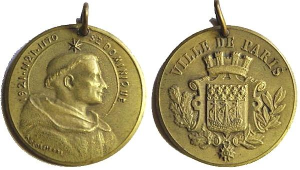 Recopilación medallas de Santo Domingo de Guzmán. Notas iconográficas. Pescud49