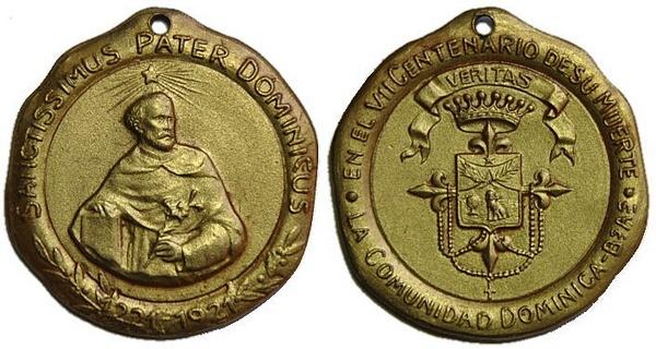 Recopilación medallas de Santo Domingo de Guzmán. Notas iconográficas. Pescud50
