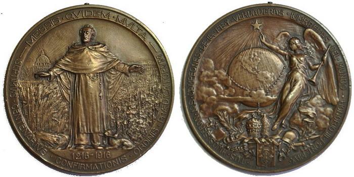 Recopilación medallas de Santo Domingo de Guzmán. Notas iconográficas. Pescud54