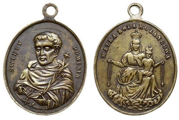 Recopilación medallas de Santo Domingo de Guzmán. Notas iconográficas. Pescud55