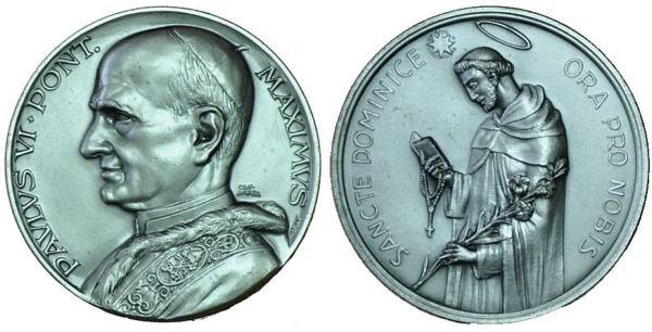 Recopilación medallas de Santo Domingo de Guzmán. Notas iconográficas. Pescud56