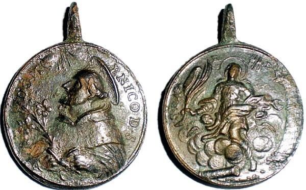 Recopilación medallas de Santo Domingo de Guzmán. Notas iconográficas. Pescud57