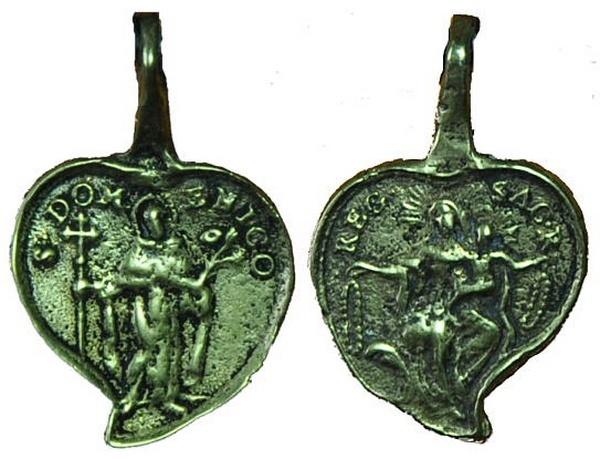 Recopilación medallas de Santo Domingo de Guzmán. Notas iconográficas. Pescud58