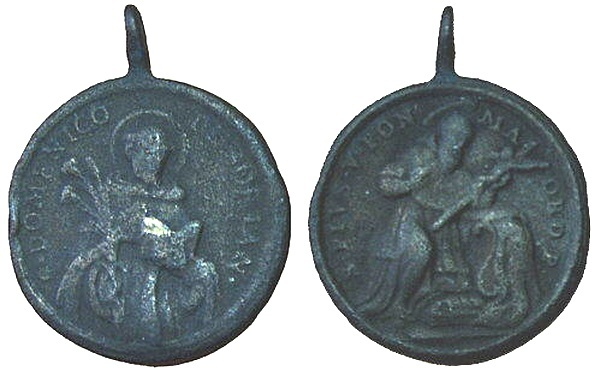 Recopilación medallas de Santo Domingo de Guzmán. Notas iconográficas. Pescud60