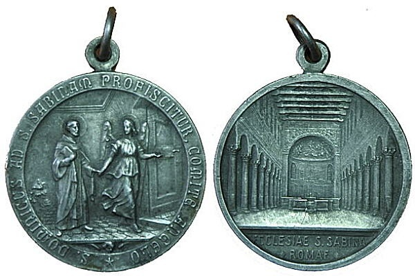 Recopilación medallas de Santo Domingo de Guzmán. Notas iconográficas. Pescud61