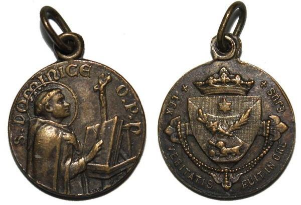 Recopilación medallas de Santo Domingo de Guzmán. Notas iconográficas. Pescud62