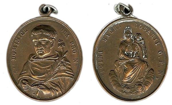Recopilación medallas de Santo Domingo de Guzmán. Notas iconográficas. Pescud64