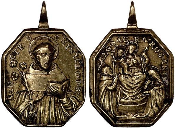 Recopilación medallas de Santo Domingo de Guzmán. Notas iconográficas. Pescud65