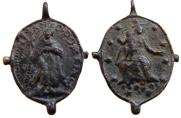 Recopilación medallas de Santo Domingo de Guzmán. Notas iconográficas. Pescud66