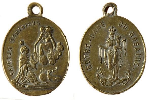 Recopilación medallas de Santo Domingo de Guzmán. Notas iconográficas. Pescud67