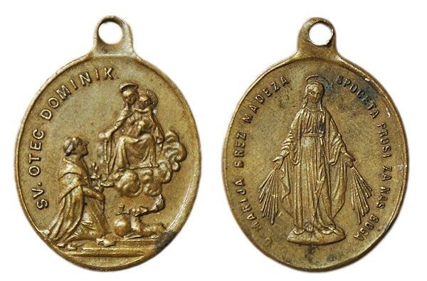 Recopilación medallas de Santo Domingo de Guzmán. Notas iconográficas. Pescud68