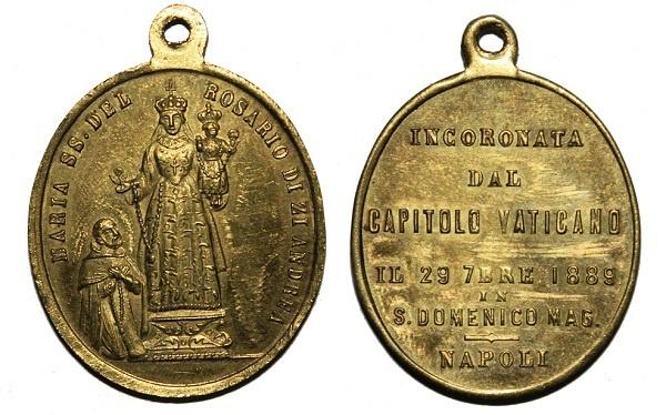 Recopilación medallas de Santo Domingo de Guzmán. Notas iconográficas. Pescud69