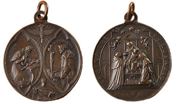 Recopilación medallas de Santo Domingo de Guzmán. Notas iconográficas. Pescud70