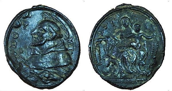 Recopilación medallas de Santo Domingo de Guzmán. Notas iconográficas. Pescud71