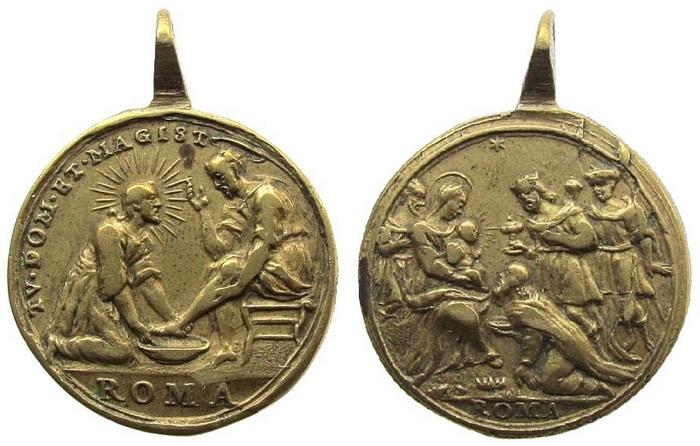 ICONOGRAFIA de la NATIVIDAD en las medallas devocionales Qnljl510
