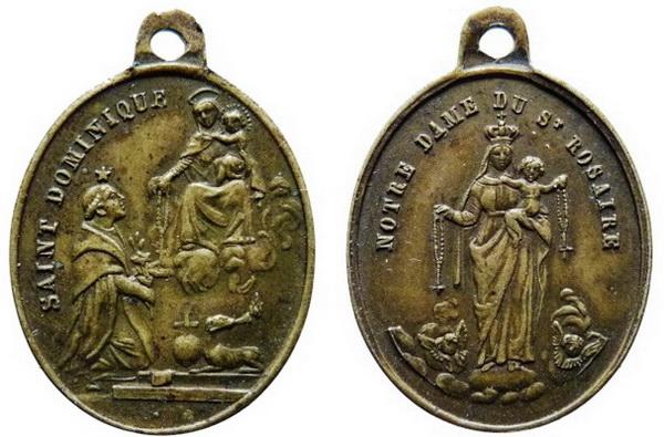 Recopilación medallas de Santo Domingo de Guzmán. Notas iconográficas. Rgude_17