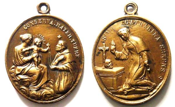 Recopilación medallas de Santo Domingo de Guzmán. Notas iconográficas. Rgude_18