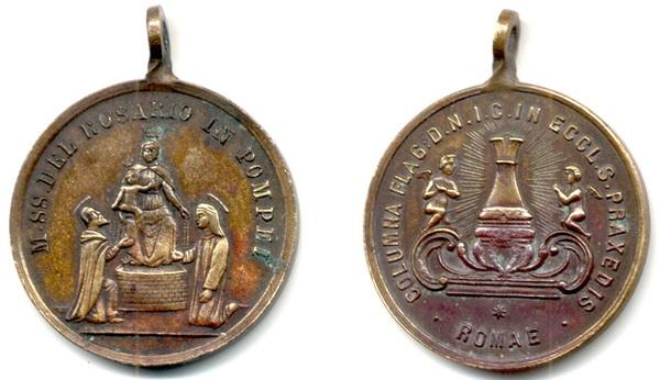 Recopilación medallas de Santo Domingo de Guzmán. Notas iconográficas. Rosari13