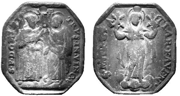 Recopilación medallas de Santo Domingo de Guzmán. Notas iconográficas. S_d_fa11