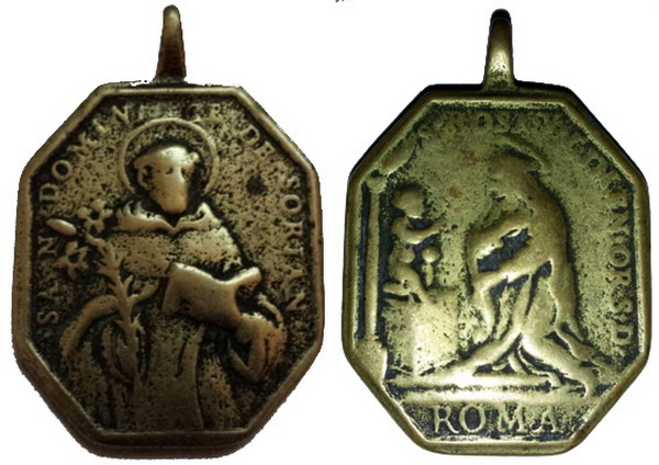 Recopilación medallas de Santo Domingo de Guzmán. Notas iconográficas. Sd02_k10