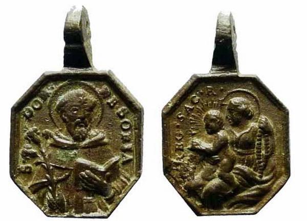 Recopilación medallas de Santo Domingo de Guzmán. Notas iconográficas. Sd03_r10