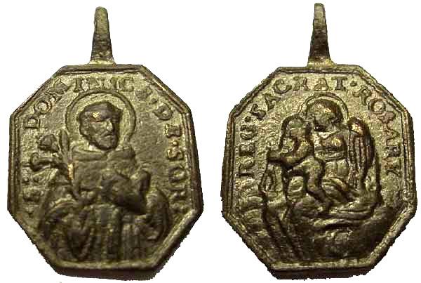 Recopilación medallas de Santo Domingo de Guzmán. Notas iconográficas. Sd04_i10
