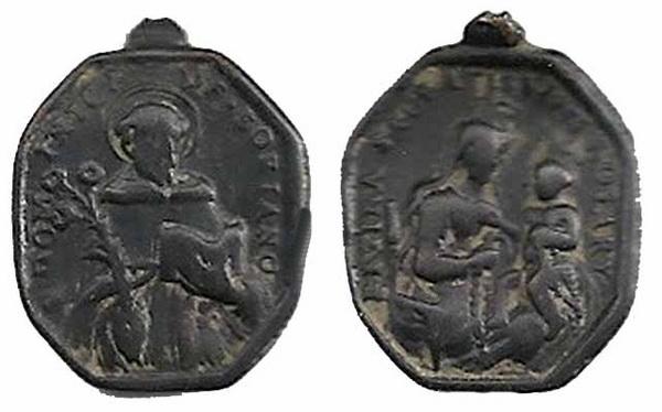 Recopilación medallas de Santo Domingo de Guzmán. Notas iconográficas. Sd05_a10