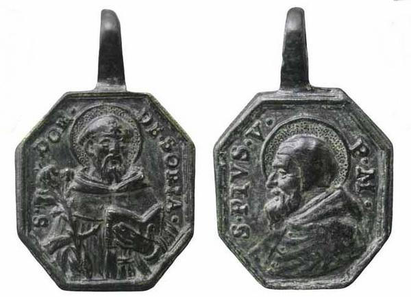 Recopilación medallas de Santo Domingo de Guzmán. Notas iconográficas. Sd06_i10