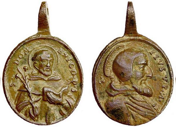 Recopilación medallas de Santo Domingo de Guzmán. Notas iconográficas. Sd07_j10