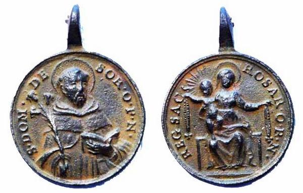 Recopilación medallas de Santo Domingo de Guzmán. Notas iconográficas. Sd08_r10