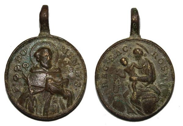 Recopilación medallas de Santo Domingo de Guzmán. Notas iconográficas. Sd10_p10