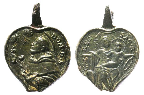 Recopilación medallas de Santo Domingo de Guzmán. Notas iconográficas. Sdi05_10