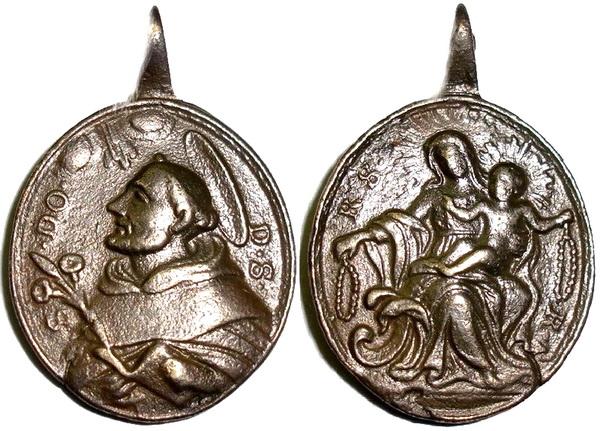 Recopilación medallas de Santo Domingo de Guzmán. Notas iconográficas. Sdi07_10