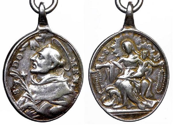Recopilación medallas de Santo Domingo de Guzmán. Notas iconográficas. Sdi08_10