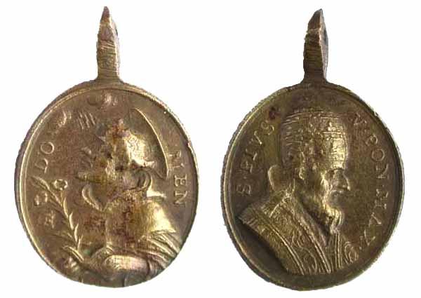 Recopilación medallas de Santo Domingo de Guzmán. Notas iconográficas. Sdi14_10