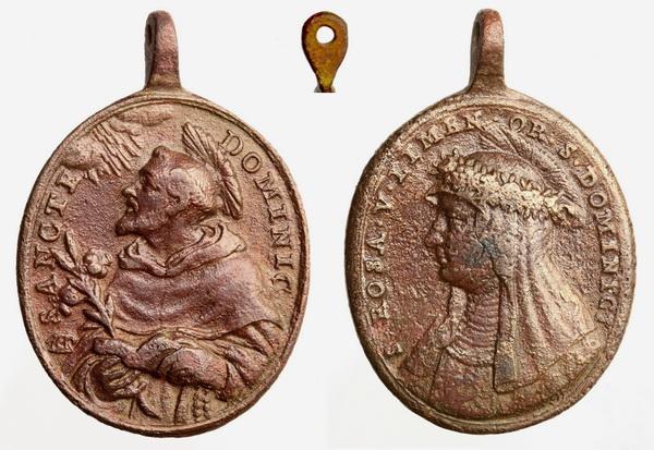 Recopilación medallas de Santo Domingo de Guzmán. Notas iconográficas. Sdi15_10