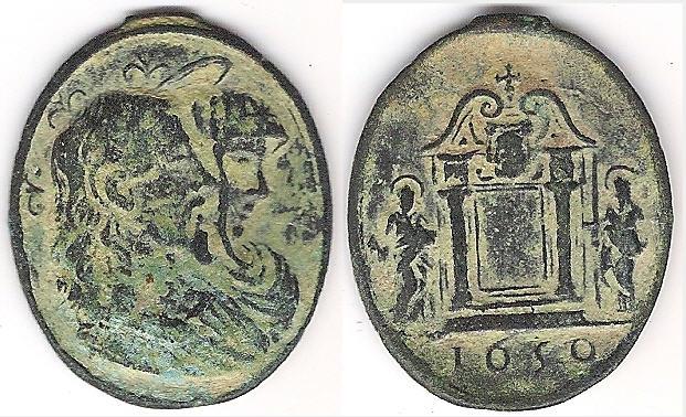Salvator Mundi · Mater Salvatoris / Jesucristo crucificado y oración, S.XVII (RM.SXVII-O329) Shiva_10