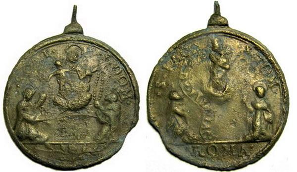Recopilación medallas de Santo Domingo de Guzmán. Notas iconográficas. Staric11