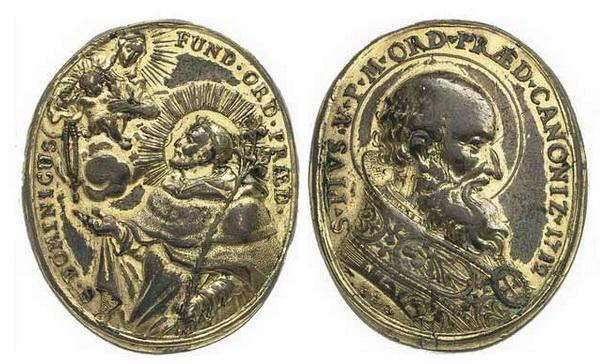 Recopilación medallas de Santo Domingo de Guzmán. Notas iconográficas. Taa_4210