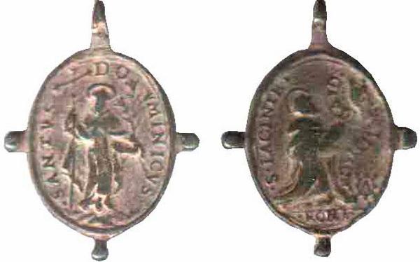 Recopilación medallas de Santo Domingo de Guzmán. Notas iconográficas. Tesaym10