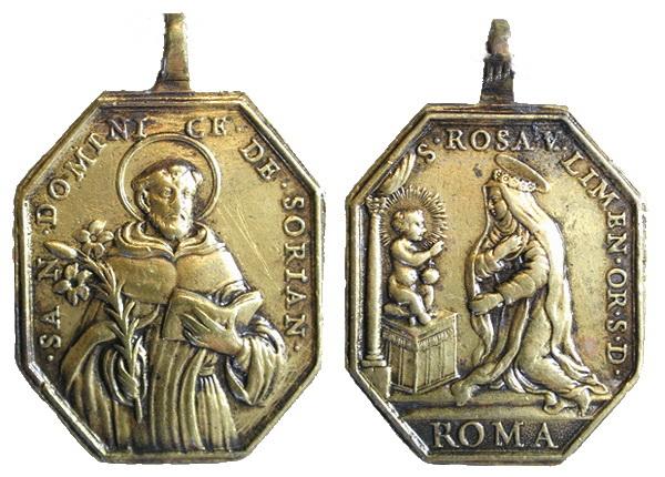 Recopilación medallas de Santo Domingo de Guzmán. Notas iconográficas. Tesaym11