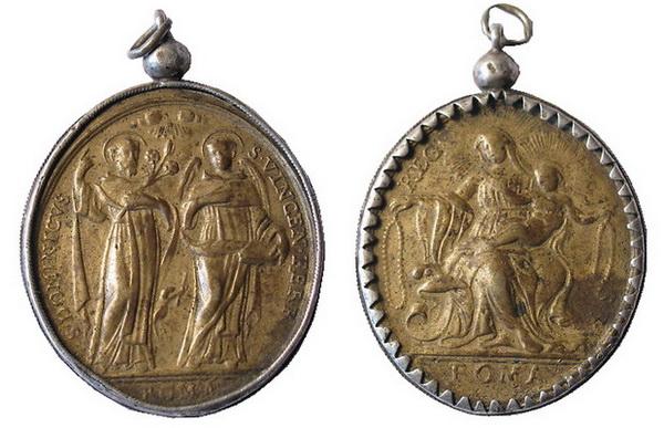 Recopilación medallas de Santo Domingo de Guzmán. Notas iconográficas. Tesaym12